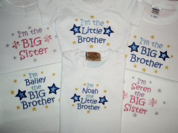 football personalised Big Brother Sister T-shirt or I/'m going to be butterfly